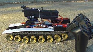 Как сделать танк на радиоуправлении(Простое видео о том как сделать танк на радиоуправлении своими руками. Для этого нужно: 1. Arduino Nano http://goo.gl/Awltnc...., 2015-08-12T18:12:11.000Z)
