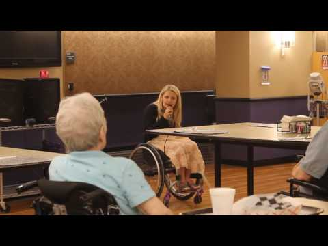 Broadway Actress Ali Stroker Performs for Magee Patients