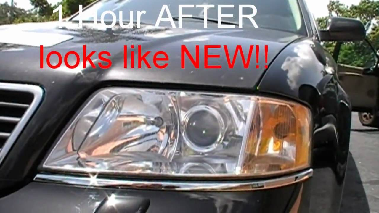 Audi A6 Foggy Yellow Headlights Saved By Our Headlight