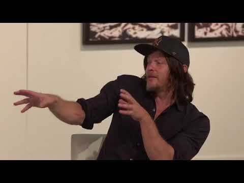 Andrea Blanch's interview with Norman Reedus at Sotheby's