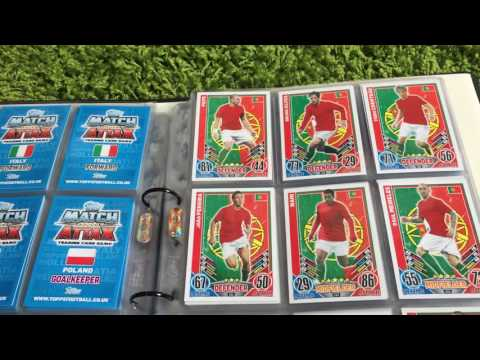 Euro 2012 Match Attax Binder with NINE Official Hologram Signed Cards inc RONALDO!!