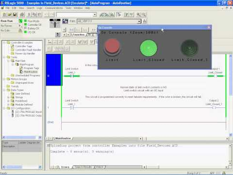 02. Programming Inputs and Outputs (Field Devices) - PLC Training on Allen-Bradley Rockwell