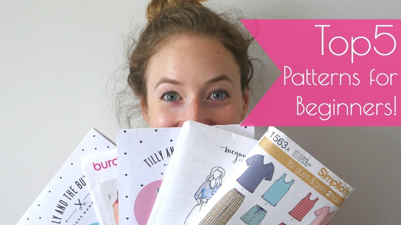 5 sewing patterns for beginners my recommendations youtube