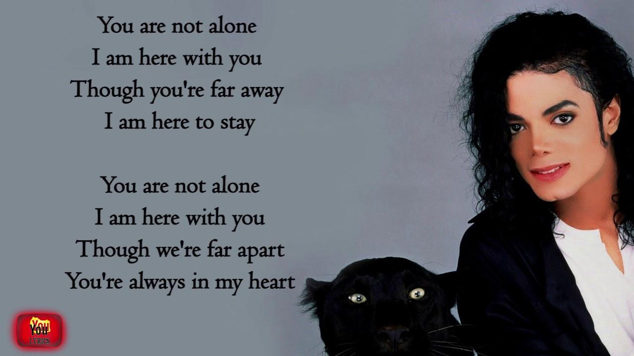 Michel jackson You are not alone lyrics