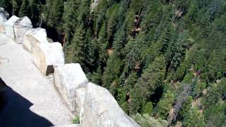 Coming down Moro Rock - 2