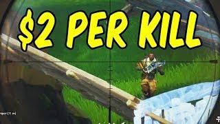 2 dollars per kill challenge! - Fortnite w/Teo & Katie