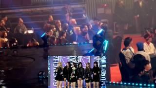 170222 BTS(방탄소년단) EXO(엑소) reaction to Gfriend(여자친구) Speech @GaonChartAwards2016
