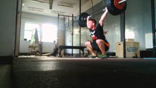 2 Squat Snatches + 1 Overhead Squat at 95 kg