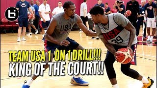 Download USA BASKETBALL CRAZY 1 ON 1 DRILL! Kevin Durant vs Paul George & More!!! Mp3 and Videos
