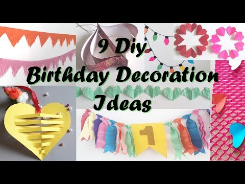 9 DIY Birthday Decoration Ideas At Home,