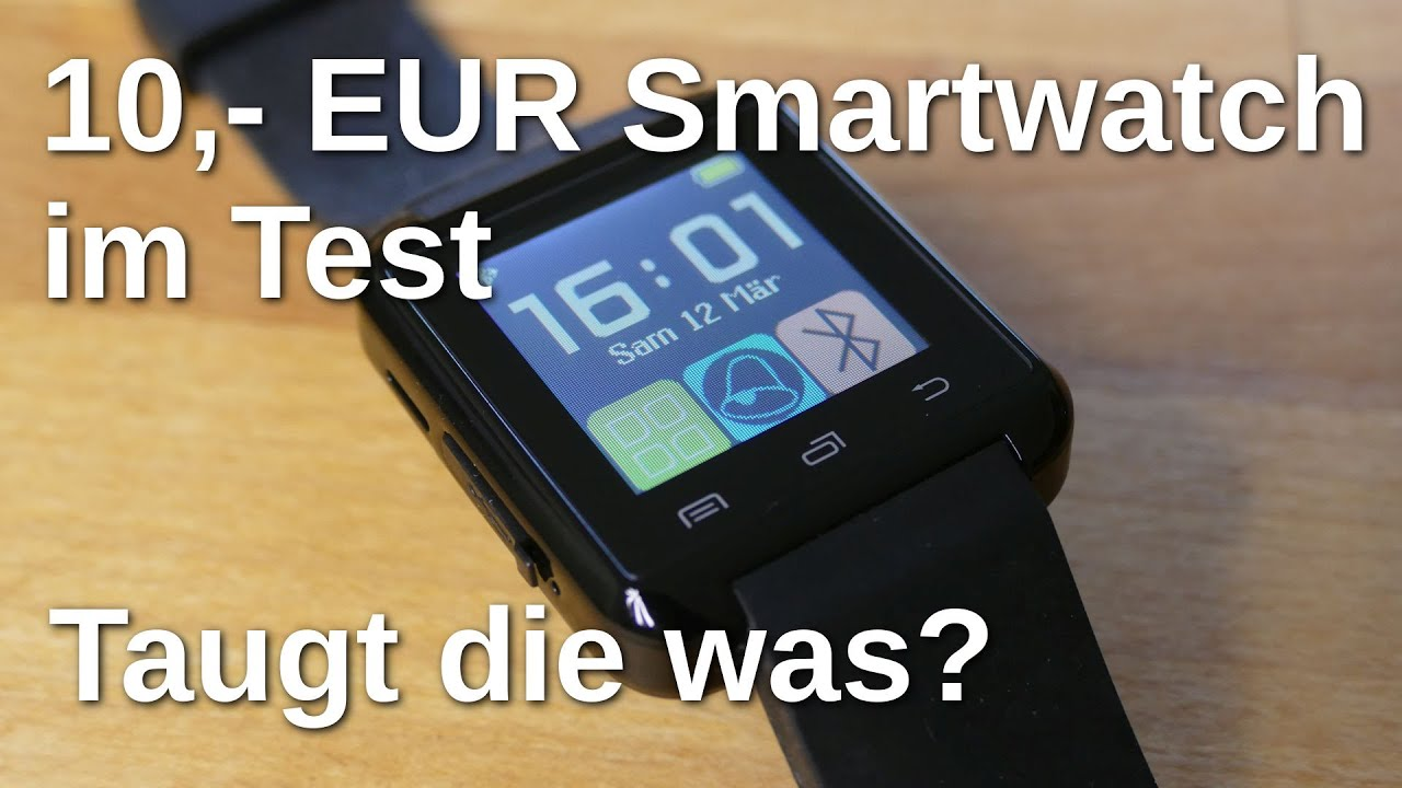 10 euro smartwatch u8 im test taugt die was www. Black Bedroom Furniture Sets. Home Design Ideas
