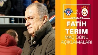 🎙 Teknik direktörümüz Fatih Terim'in maç sonu açıklamaları #KSMvGS