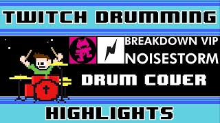 Noisestorm - Breakdown Vip Drum Cover (Live on Twitch)