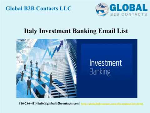 Italy Investment Banking Email list