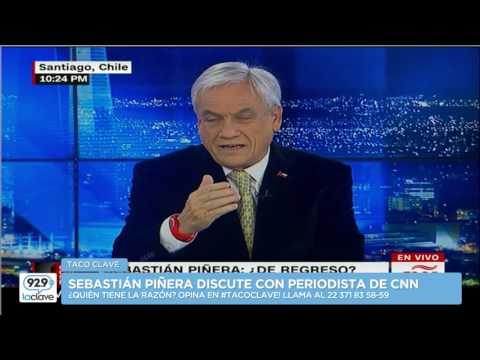 El tenso momento entre Sebastián Piñera y entrevistador de CNN en Español #TacoClave