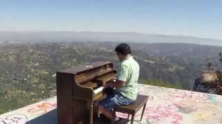 Playing the Topanga Lookout Piano, March 28, 2015