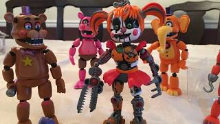 SLAFS CONTINUES!? FNaF 6 Action Figures Unboxing +stop-motion shorts