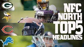 NFC North Top 5 Offseason Headlines Heading into the 2017 Season! | NFL NOW