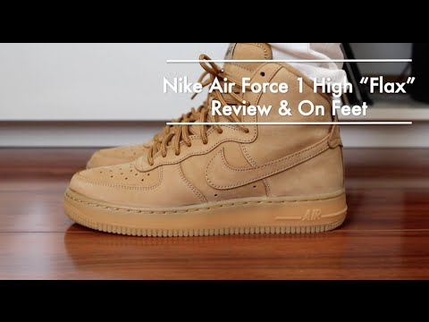 reputable site b9d66 f9a28 Nike Air Force 1 High GS Flax Wheat Review + On Feet