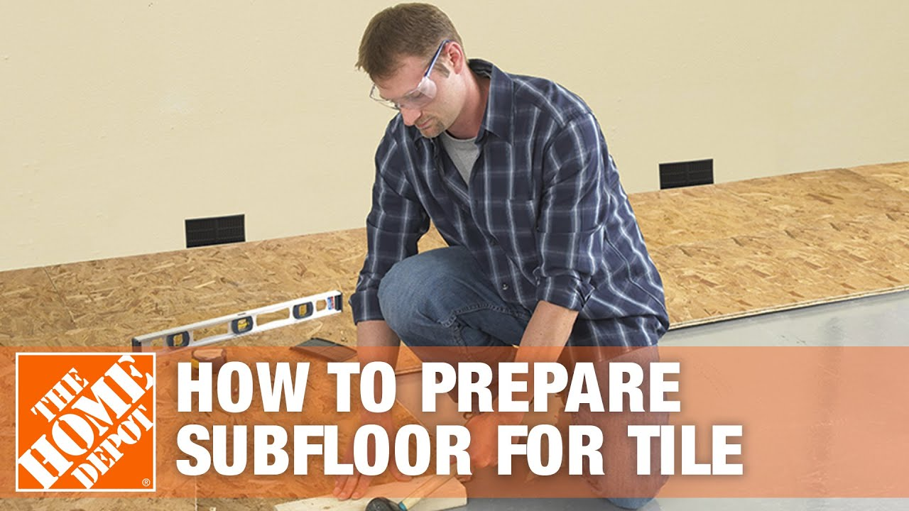 Preparing Subfloor For Tile Youtube