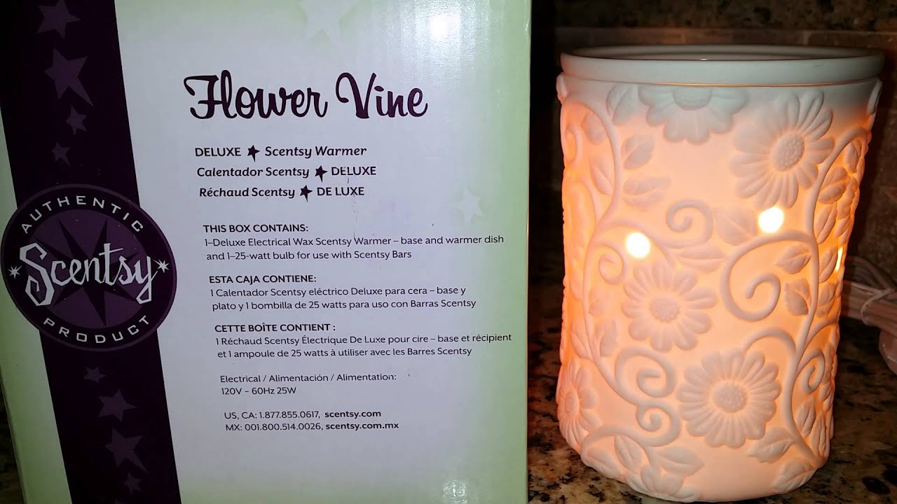 Scentsy Flower Vine Warmer Review Youtube