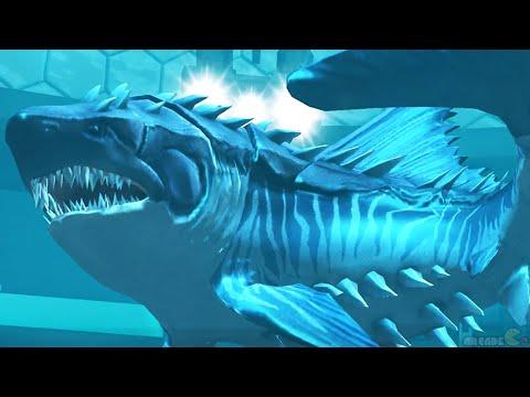 Sea Monster Battle With Megalodon Shark - Jurassic World The Game!