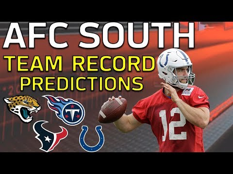 Predicting Every AFC South Team's 2018 Record l NFL