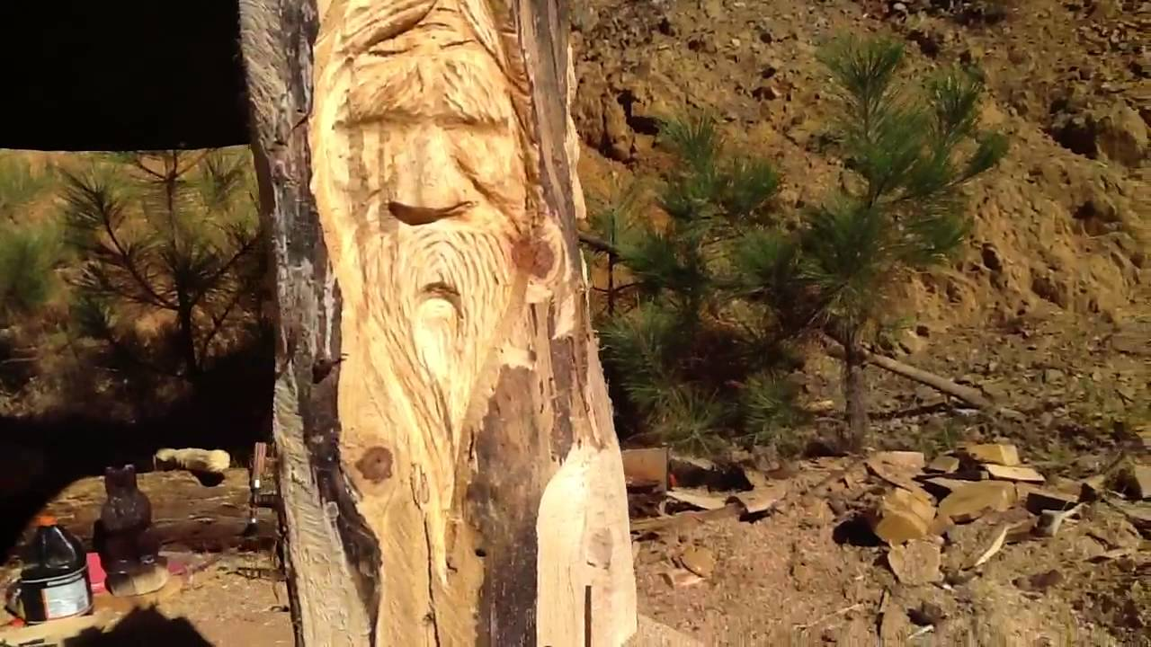 Chainsaw carved wood spirits youtube