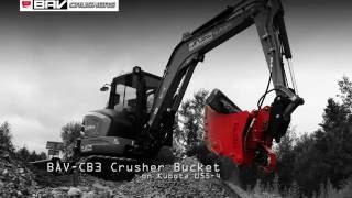bav cb3 mini crusher bucket on kubota u55 4