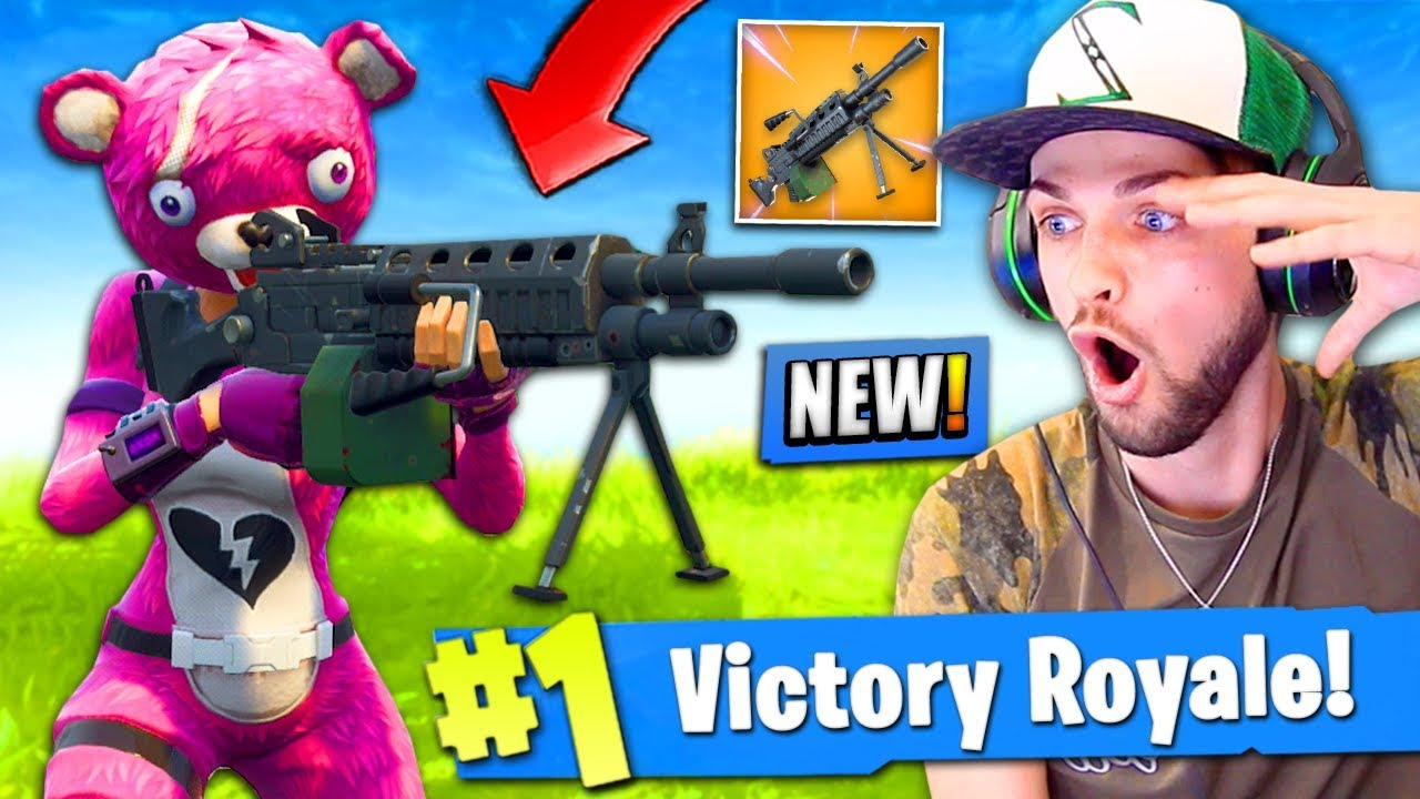 Ali A Fortnite *new* lmg gameplay in fortnite: battle royale! (is it good..?)