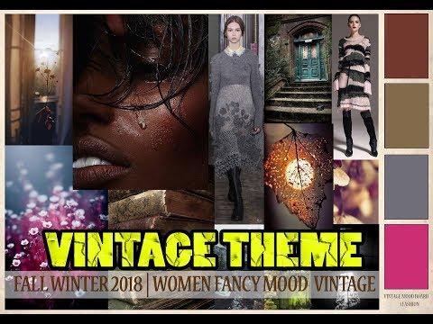 How to Make Fall Winter Professional Fashion Mood Board on VINTAGE THEME  By i Fashion