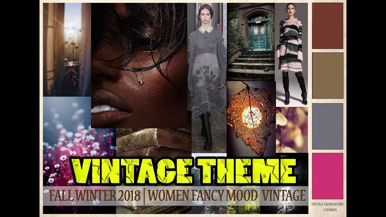 How To Make Fall Winter Professional Fashion Mood Board On Vintage Theme By I Fashion Youtube