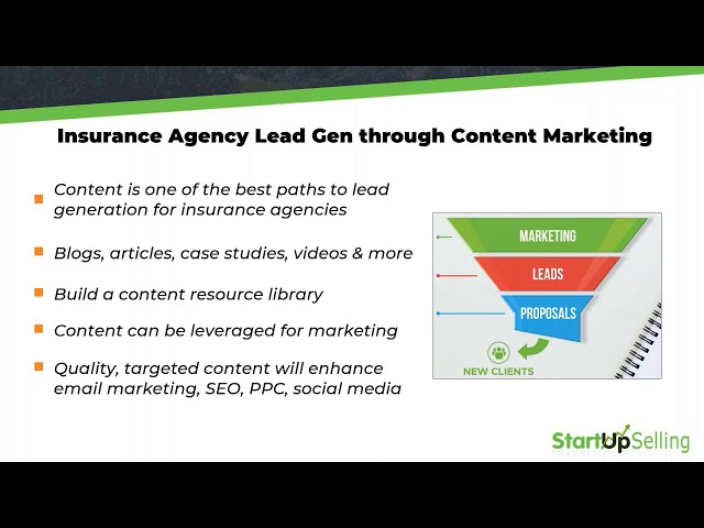 Insurance Agency Lead Gen through Content Marketing