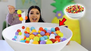 Turn this Slime JUMBO Challenge! 3 GIANT Clay, Cereal, Slushee Slime