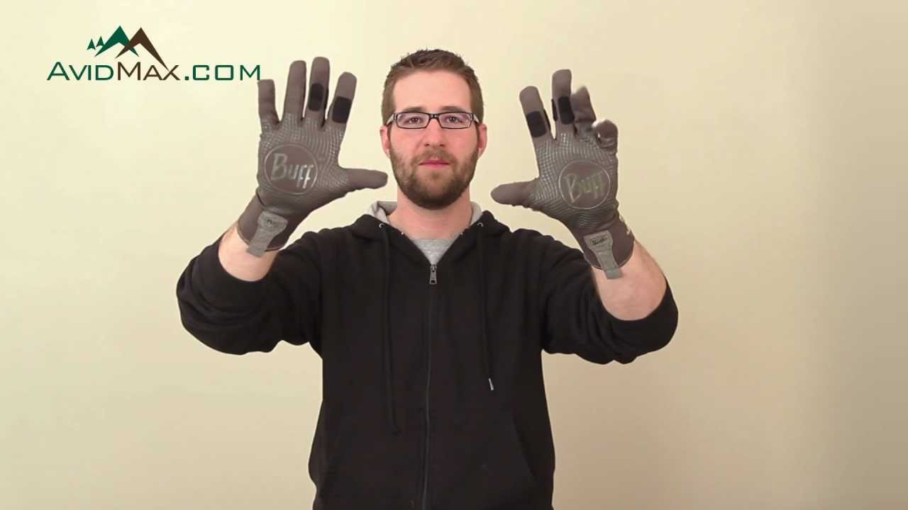Buff sport series mxs wet dry gloves product tour youtube for Buff fishing gloves