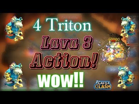 Castle Clash- 4 Triton In Lava 3 _ Did It Help?? _ Useful??