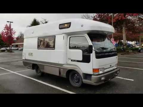 Nissan Atlas EXE Truck Camper 1993 4x4 diesel TD27, F5, JDM RHD  Parts-2  inside
