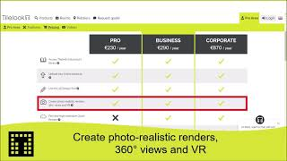 Create photo-realistic render, 360° and VR views
