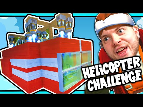 Scrap Mechanic! - HELICOPTER CHALLENGE! Vs AshDubh - [#30] | Gameplay |
