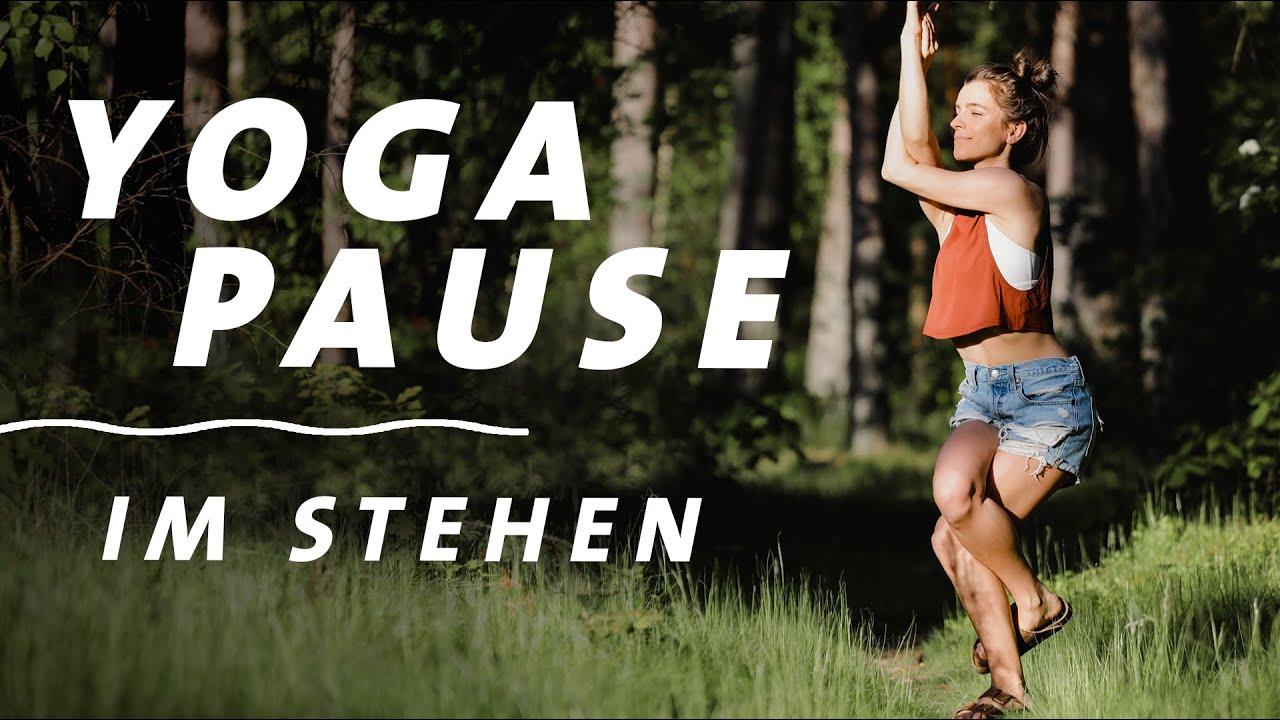 Yoga Pause im Stehen | Rücken mobilisieren & Verspannungen lösen | 10 Min. Office Break ohne Hände