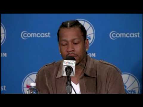 Allen Iverson is listed (or ranked) 1 on the list 20 Videos of Pro Athletes Crying at Press Conferences