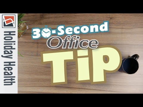 Staying Healthy at Work During the Holidays | NBF 30 Second Office Tip
