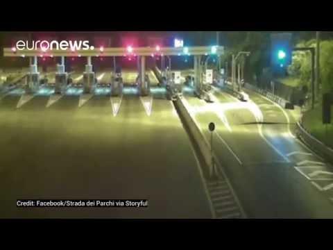 CCTV cameras show the moment violent 6.2 magnitude quake hit Italy