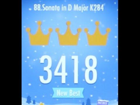 Piano Tiles 2 Fugue Sonata in D Major K284 (Mozart) High Score 3418 Piano Tiles 2 Song 88