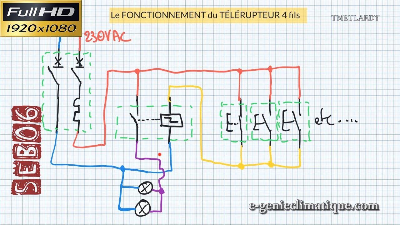 Schema Electrique Branchement Cablage Télérupteur Unipolaire
