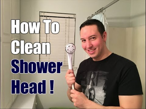 How To Clean a Shower Head in 2 Simple Steps!