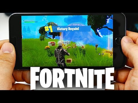 Fortnite: Battle Royale MOBILE GAMEPLAY! (Playing Fortnite iOS on Mobile)
