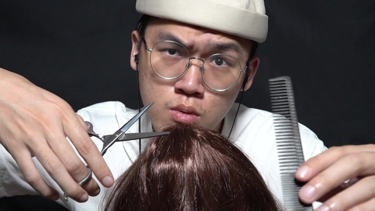 Ultra Raw Barbershop Haircut & Shaving ASMR