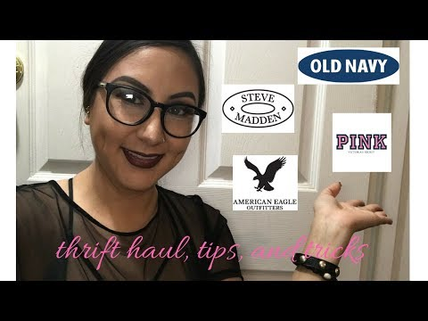Thrift Haul, tips, and tricks (name brand items)