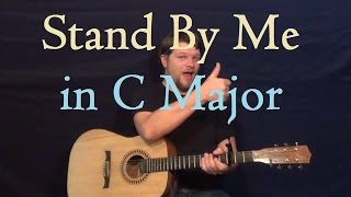 Stand By Me (Ben E King) C Major Easy Strum Guitar Lesson How to Play Tutorial